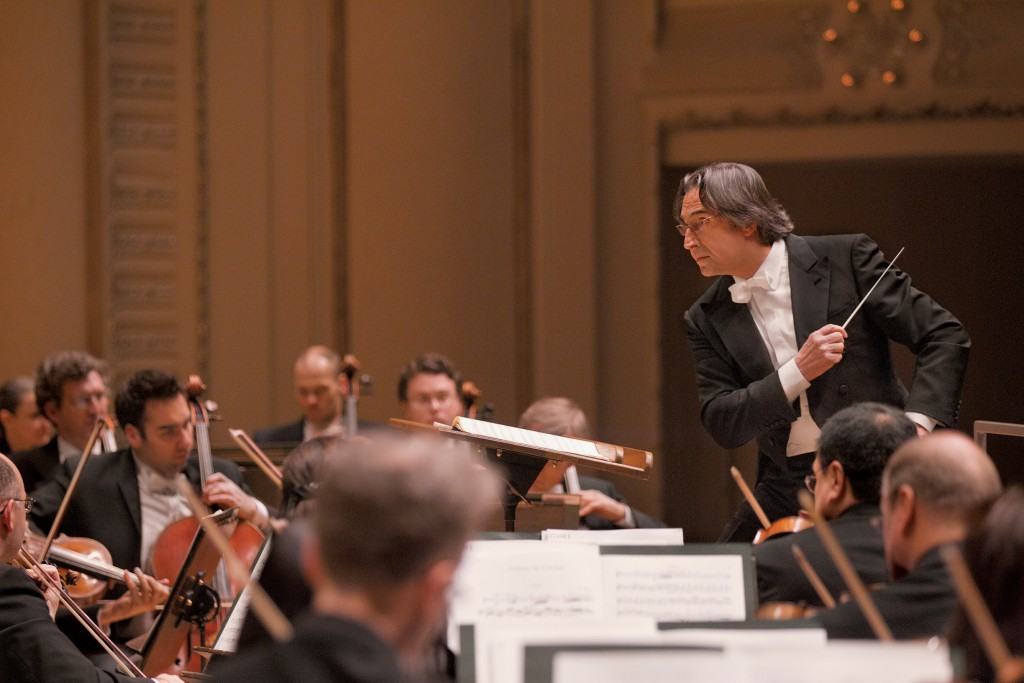Riccardo Muti conducts the Chicago Symphony Orchestra. © Todd Rosenberg Photography 2012.