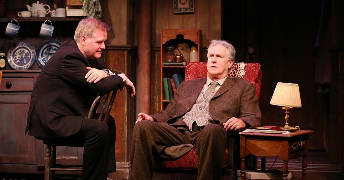 Ciaran O'Reilly as Charlie and Paul O'Brien as Da in the Irish Rep's revival of Hugh Leonard's play.