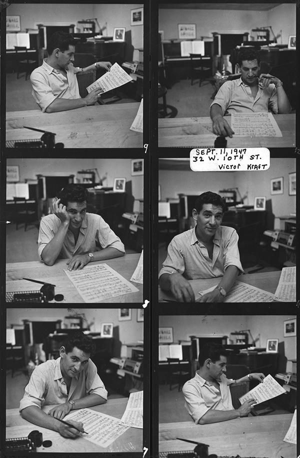 Leonard Bernstein in 1947. Photo Victor Kraft.