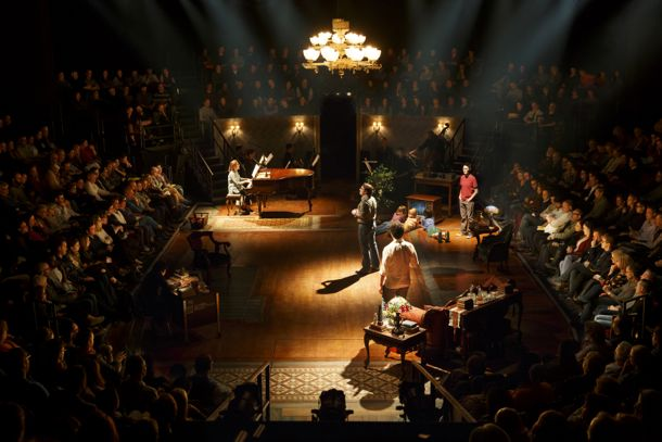 """The Broadway production of """"Fun Home"""" staged in-the-round at The Circle in the Square Theatre ©Joan Marcus"""