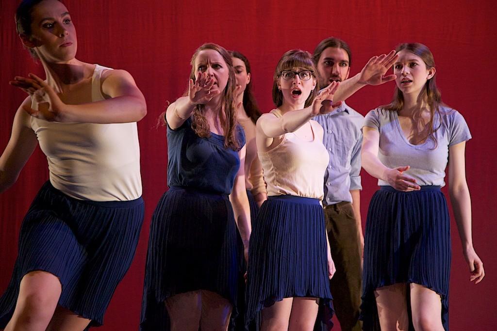 Chloe Hawkey and Chorus. Photo Joe Ritter.