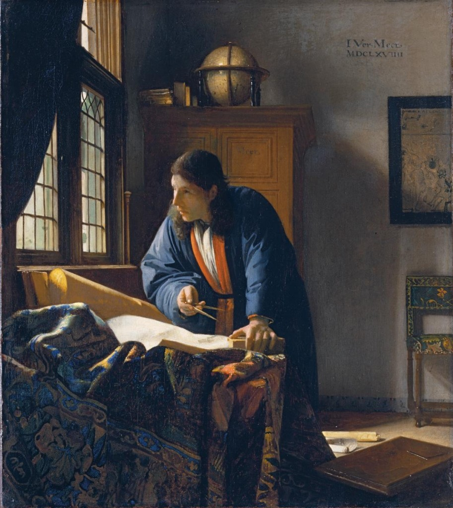 Johannes Vermeer (Delft 1632–1675), The Geographer (1669), Oil on canvas, Städel Museum, Frankfurt.
