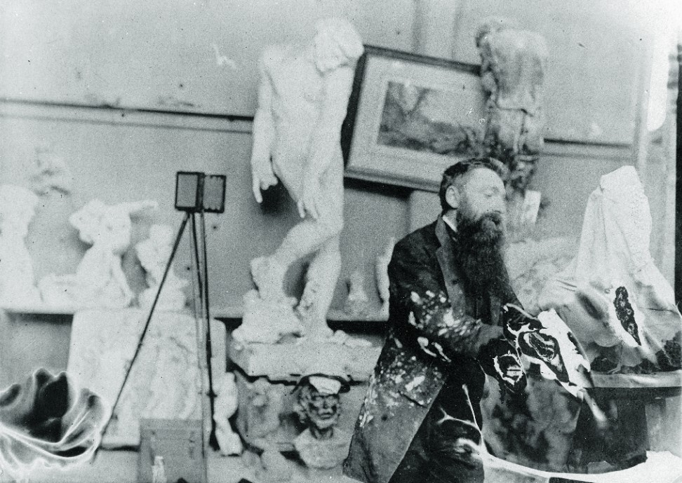 Rodin in his studio