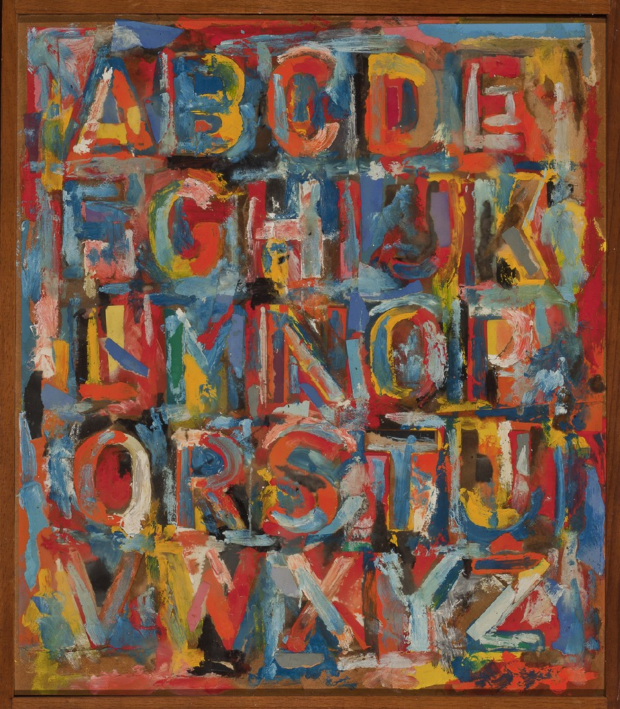 Jasper Johns. Alphabet, 1959. The Art Institute of Chicago, Gift of Edlis/Neeson Collection. © Jasper Johns/Licensed by VAGA, New York, NY