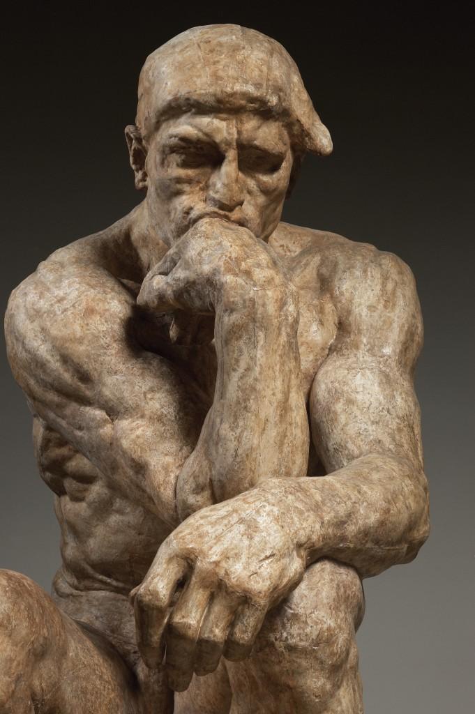 Auguste Rodin (1840-1917), The Thinker, large version, 1903, patinated plaster for bronze casting, 182 x 108 x 141 cm. Paris, Musée Rodin © Musée Rodin. Photo Christian Baraja.