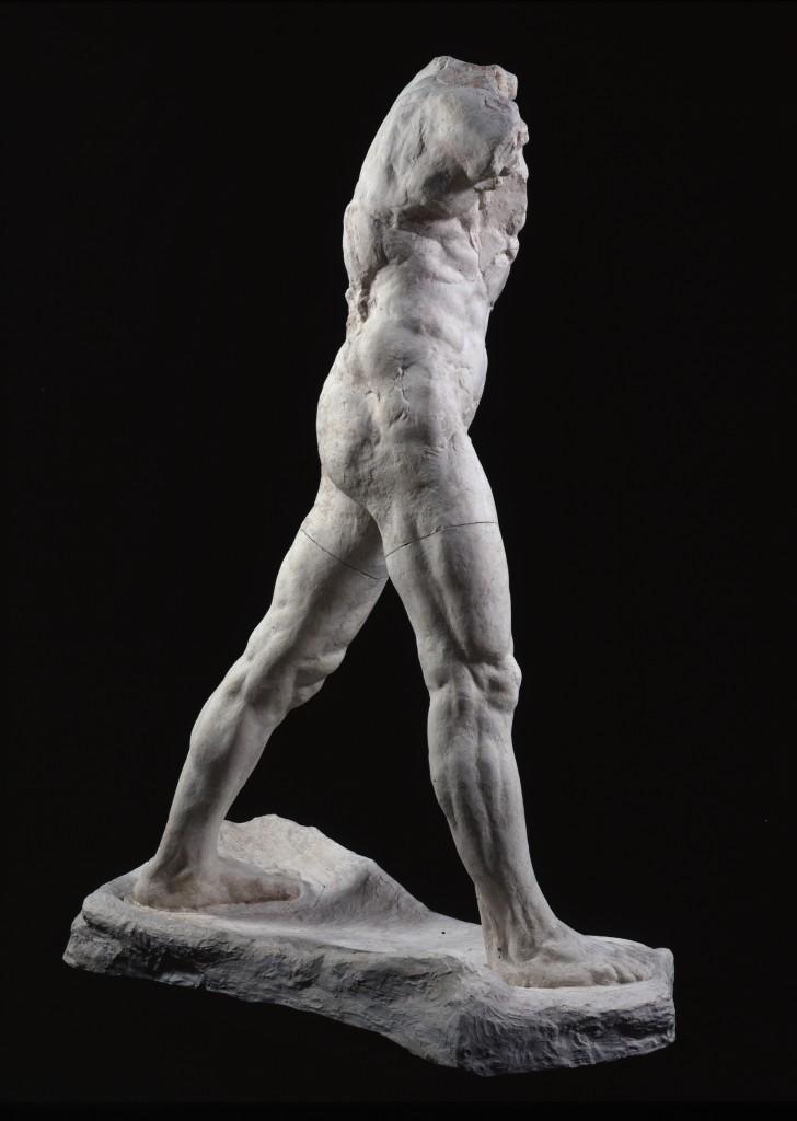 Auguste Rodin (1840-1917) The Walking Man, large version, 1907, patinated plaster, 218.3 x 160.2 x 74.9 cm, Paris, Musée Rodin © Musée Rodin. Photo Adam Rzepka.