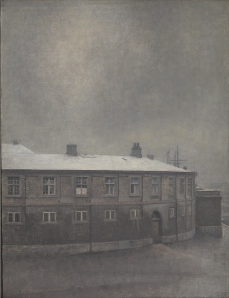 Hammershøi, A Wing of the Christiansborg Palace, 1907