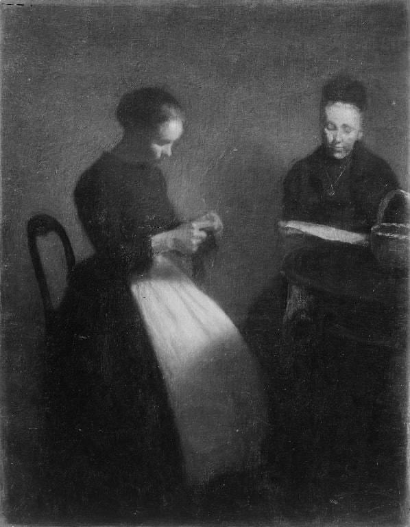 Vilhelm Hammershøi, Evening in the Drawing Room, 1891