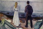 Edvard Munch, Two Human Beings. The Lonely Ones, 1905. Oil on canvas. 80 x 100 cm (31 ½ x 39 3/8 in.). Lynn G. Straus. 2016 Artists Rights Society (ARS), New York.