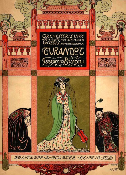 Ferruccio Busoni, Turandot Suite Score Cover by Emil Orlik. Breitkopf & Härtel.