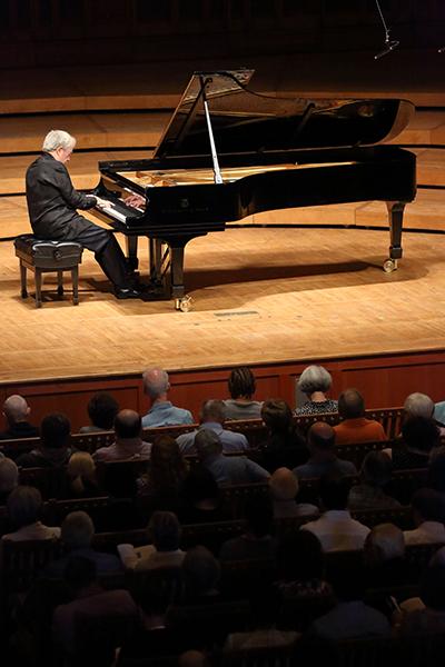 Nelson Freire in Ozawa Hall. Photo Hilary Scott.