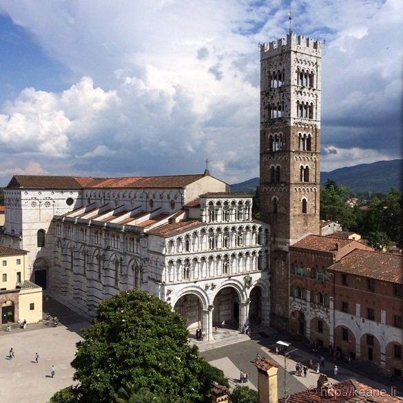 The Cathedral, Lucca, where Giacomo I Puccini (1712-81) worked.