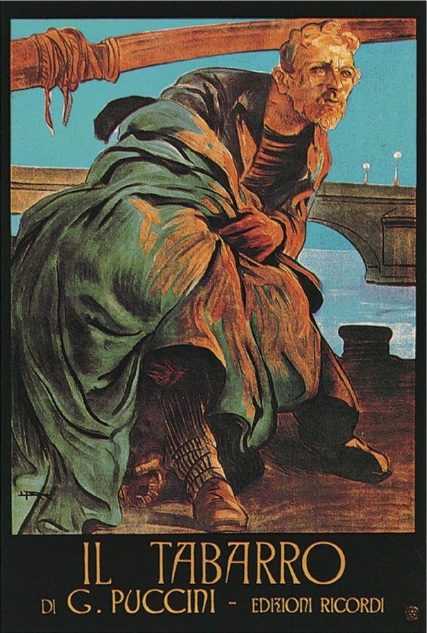 Puccini, Il Tabarro, Poster.