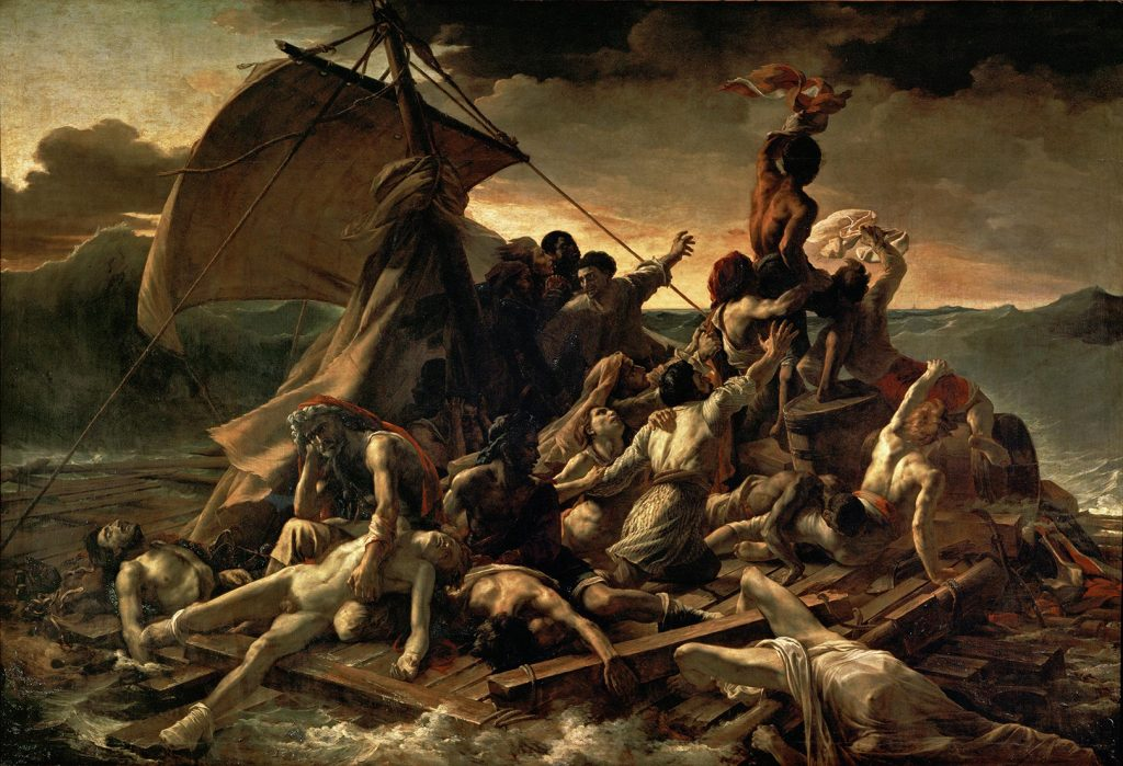 Théodore Géricault (Rouen, 1791 - Paris, 1824) The Raft of the Medusa, oil on canvas. Musée du Louvre.