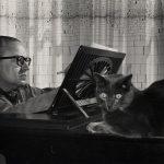 Alberto Ginastera with Cat