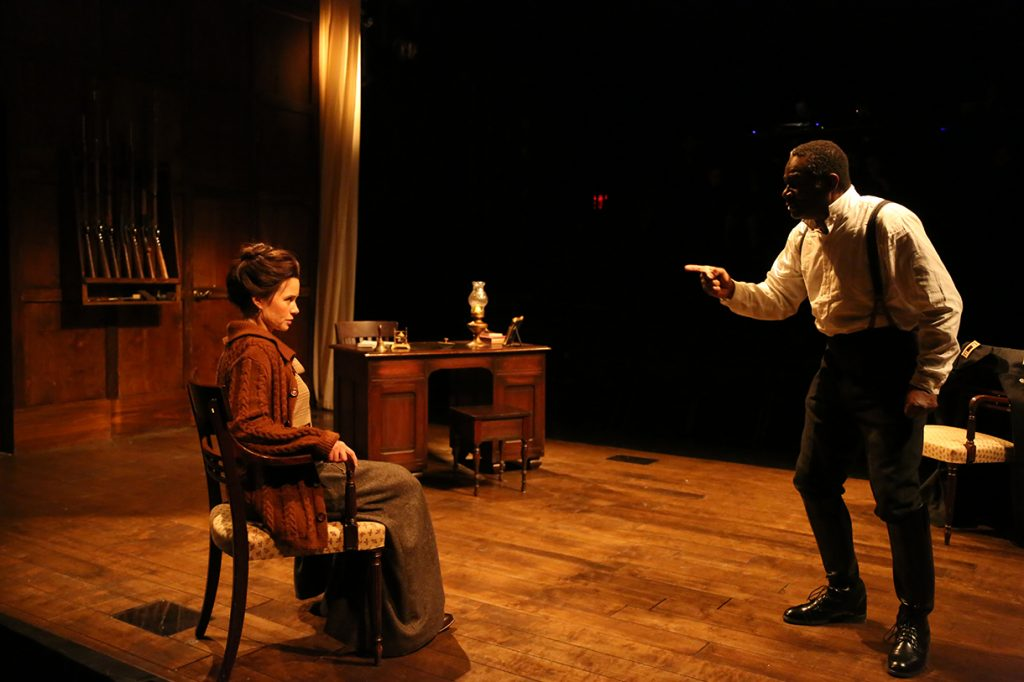 Maggie Lacey and John Douglas Thompson in Strindberg's The Father. Photo Jerry Goodstein.