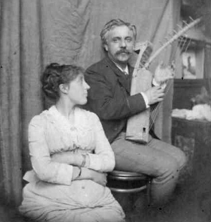 Marie and Gabriel Fauré in 1889