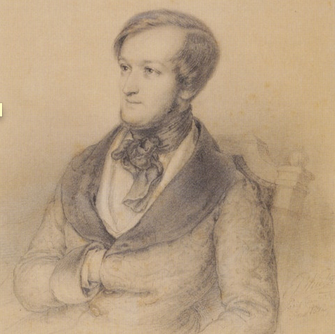 Portrait of Richard Wagner by Ernst Benedikt Kietz (Paris, 1840/42)