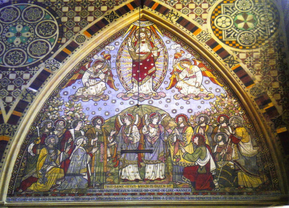 The Ascension by Bell & Beckham. Tiles. All Saints Church, Margaret Street, London. Photo John Pankhurst.