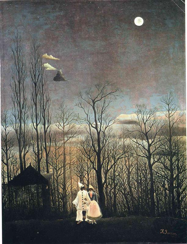 Henri Rousseau, Carnival Evening, 1886, oil on canvas, 117.3 x 89.5 cm, Philadelphia Museum of Art.