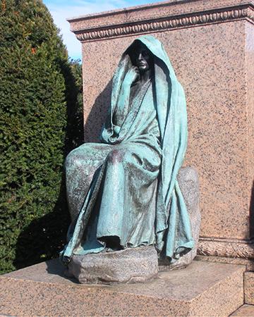 Augusta Saint-Gaudens, Adams Memorial, Bronze.