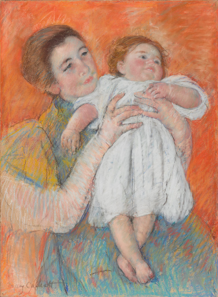 Mary Cassatt, The Barefoot Child. Pastel.