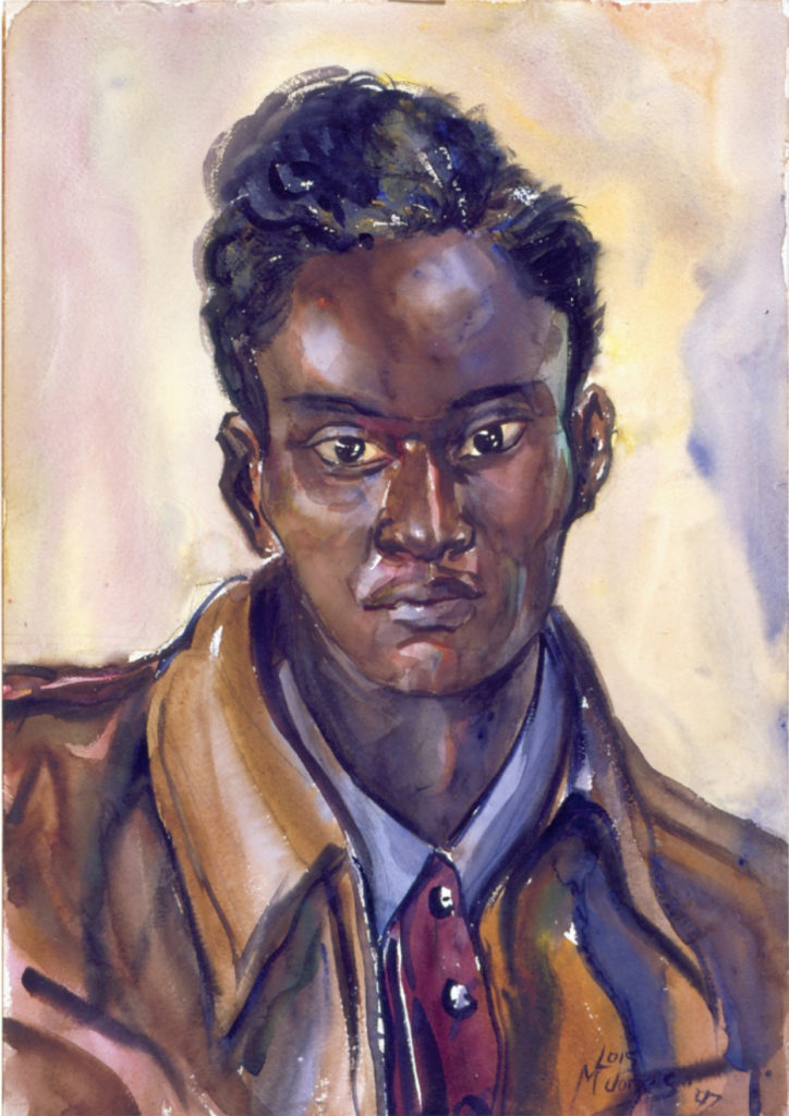 Lois Mailou Jones, A Student at Howard, 1947. Watercolor over graphite on off-white wove paper.