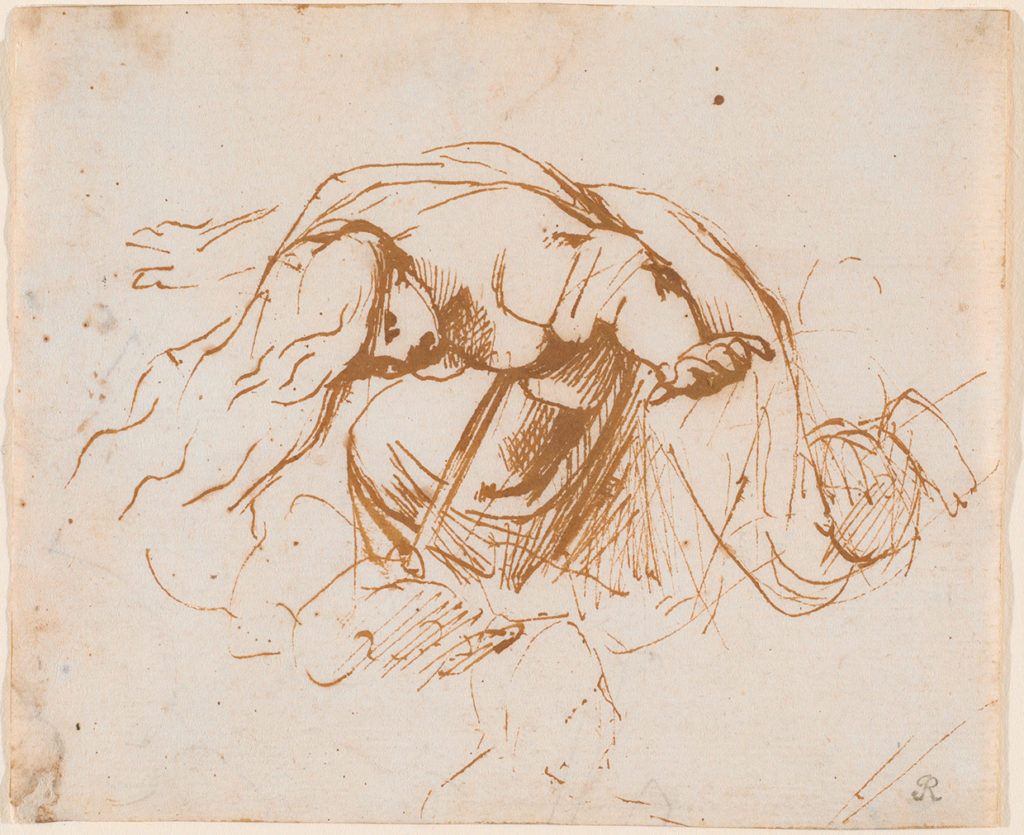 Peter Paul Rubens, The Death of Queen Dido, Pen and brown ink.