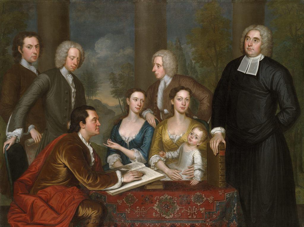 John Smibert, The Bermuda Group. Oil on canvas. Yale University Art Gallery.