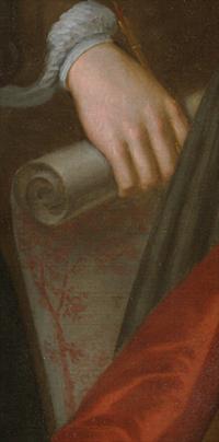 John Smibert, The Bermuda Group (detai). Oil on canvas. Yale University Art Gallery.