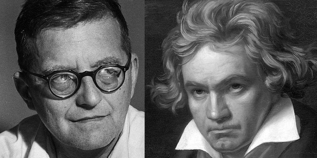Dmitri Shostakovich and Ludwig van Beethoven