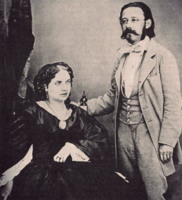 1860 portrait of Bedrich Smetana with his second wife Bettina