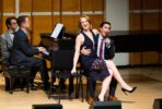 Sally Wilfert, Lora Lee Gayer, Georgia Stitt (piano), John Herrera, Gabrielle Stravelli. Photo David Andrako.