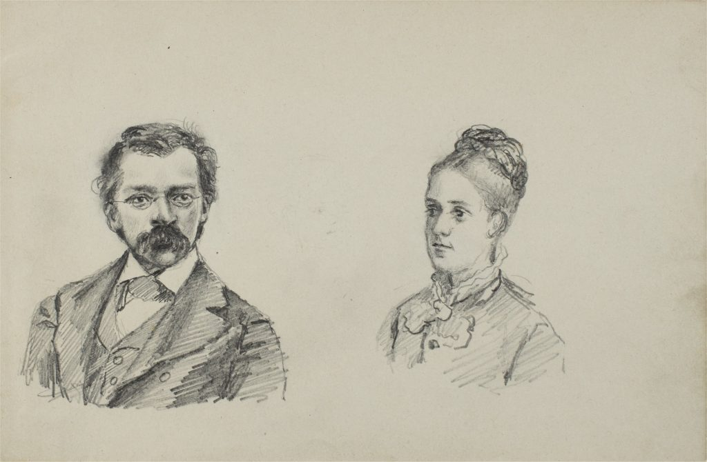 Woldemar Bargiel with his wife, Maria Fellinger, in 1881