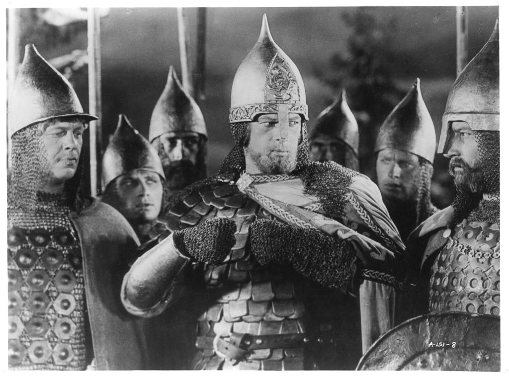 Nikolai Cherkasov as Aleksander Nevskij in Sergej Eisenstein's film.