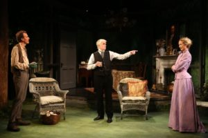 Ed Malone as David Gore, John Windsor-Cunningham as Christopher Gore, and Rachel Pickup as Margaret O'Donnell.