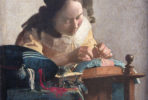 Johannes Vermeer, The Lacemaker, Oil on canvas, 1670-1671. Musée du Louvre.