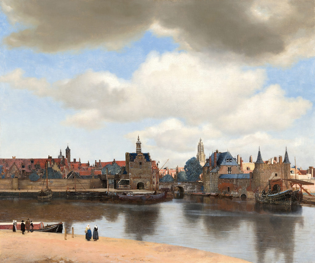 Johannes Vermeer, View of Delft, c. 1660 - 1661. Mauritshuis, The Hague.