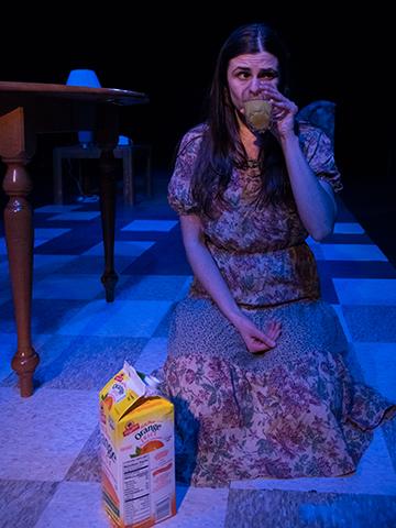 """Lauren LaRocca (Gloria), drinks orange juice in """"Sheila."""""""