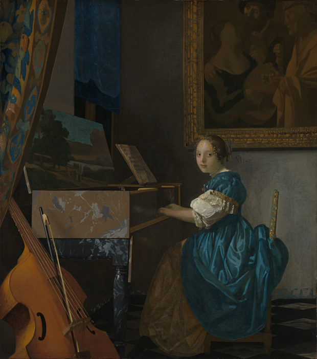 Johannes Vermeer, A Young Woman seated at a Virginal, Oil on canvas, ca. 1670-72. National Gallery, London.