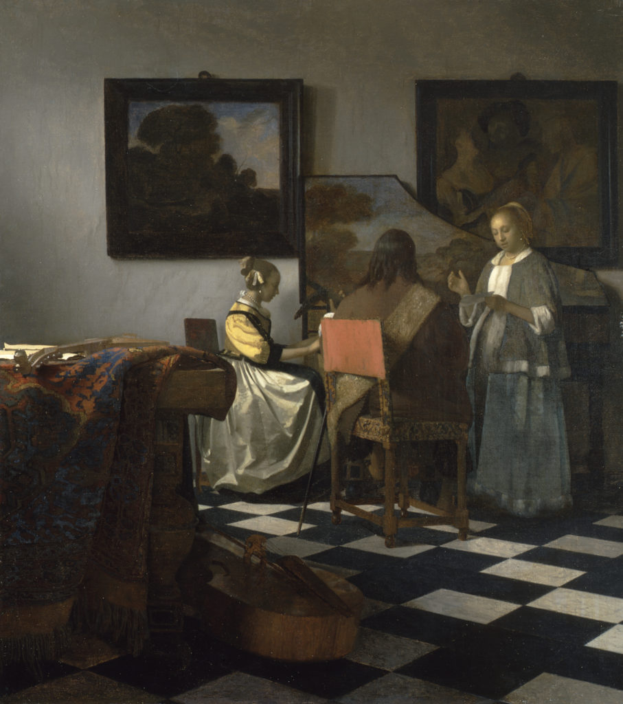 Johannes Vermeer, The Concert, Oil on canvas, 1663-66, formerly The Isabella Stewart Gardner Collection.