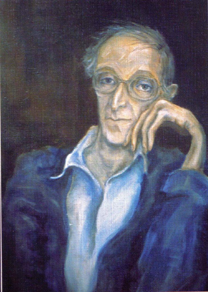 Portrait of Aleksandr Lokshin by Tatyana_Apraksina. Oil on canvas, 1987.
