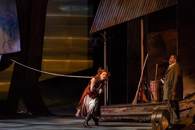 A Scene from Janáček's Cunning Little Vixen at Glimmerglass. Photo Karli Cadel.