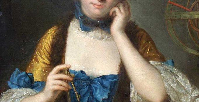 Emilie du Chatelet, portrait by Charles Quentin de Latour