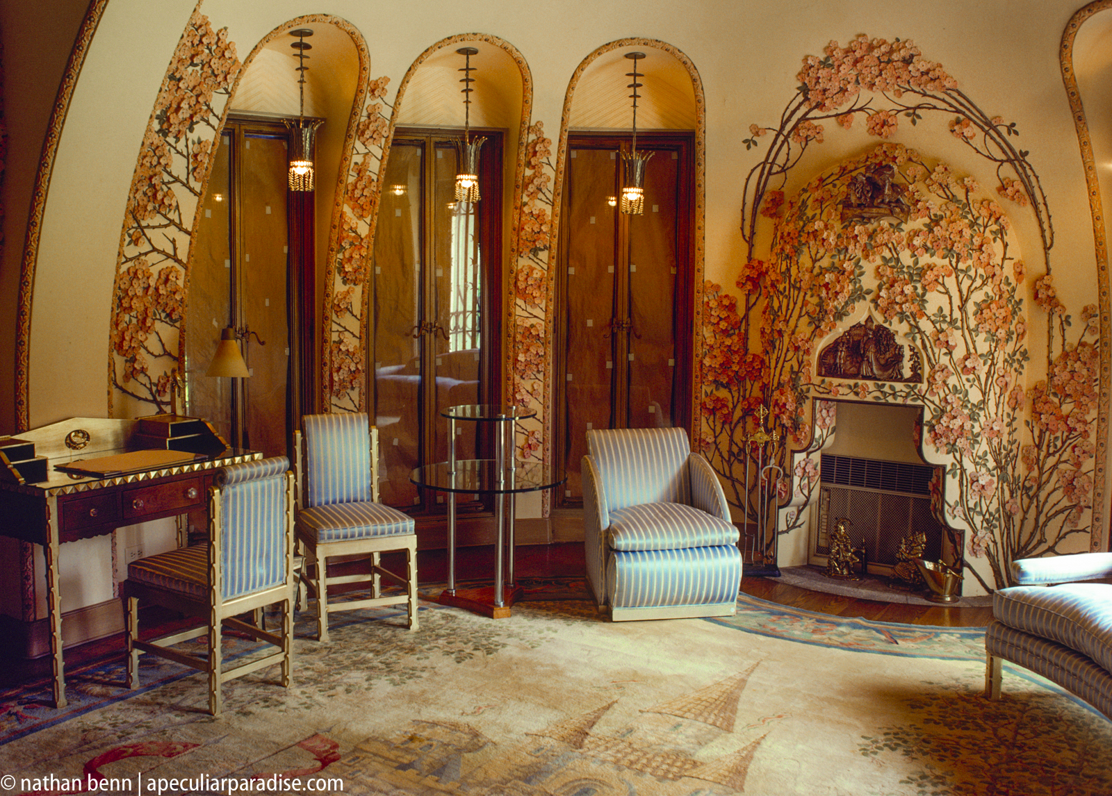 Dina Merrill's childhood bedroom at Mar-a-Lago, designed by Joseph Urban.