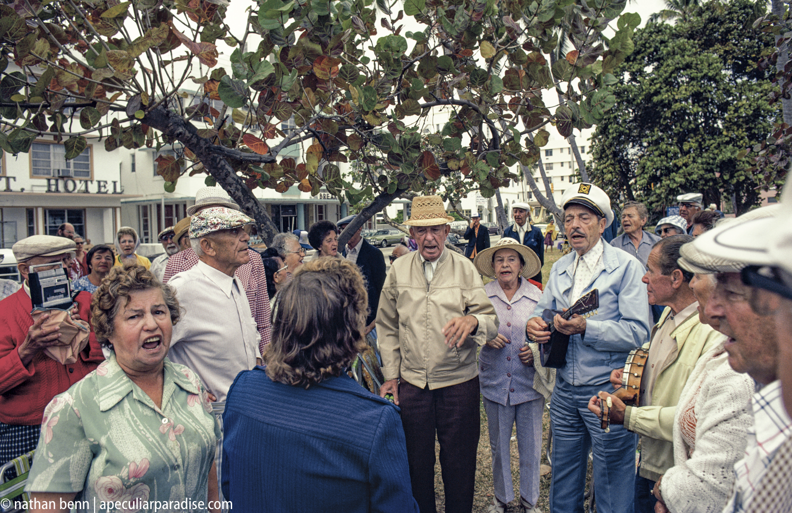 Elderly Jews singing Yiddish, Polish, and Hebrew language music and songs on South Beach
