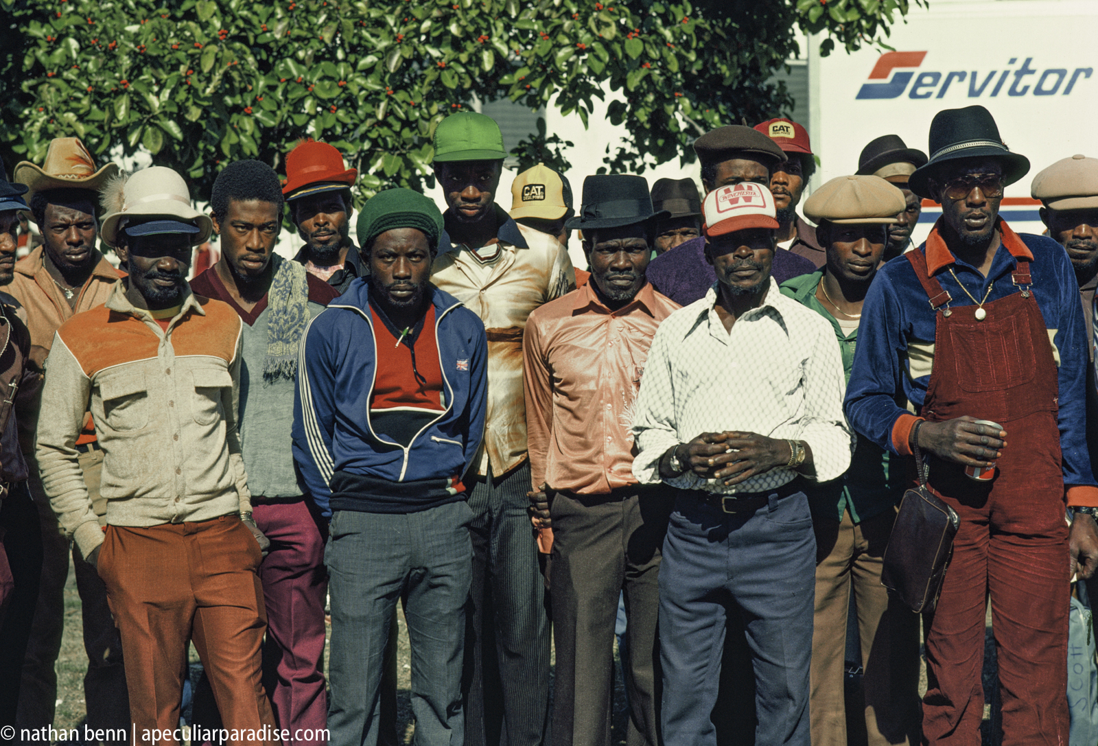 Next to Miami Intl' Airport at Meranda Company, mostly Jamaican seasonal workers await to be flown home after 3-6 months work as field laborers here, mostly cutting sugar cane. 12000 - 13,000 come through here annually and their revenue is the 3rd greatest producer of foreign trade in Jamaica. Program started in WWII.