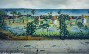 Mural of the countryside in Haiti