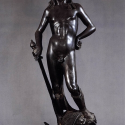 Donatello, David, bronze, Museo del Bargello, Florence
