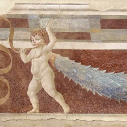 Andrea del Castagno, Putto Bearing Garland, from the Room of the Famous Men and Women, Villa Carducci, Legnaia